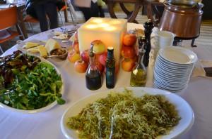 Repa in zelje s fižolom, bučnim oljem... v solati